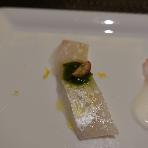 Long Island Fluke with Candied Ginger and Apple