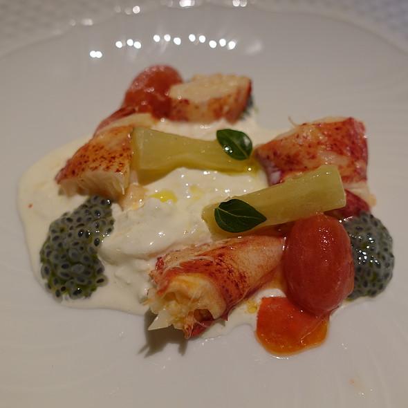 Nova Scotia Lobster with Burrata, Eggplant al Funghetto, and Basil