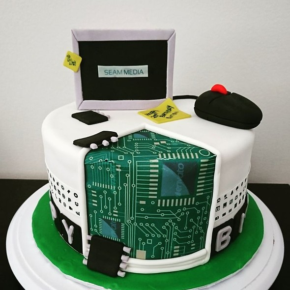 Computer Themed Cake