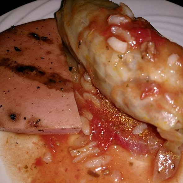 Cabbage Roll And Smoked Bologna