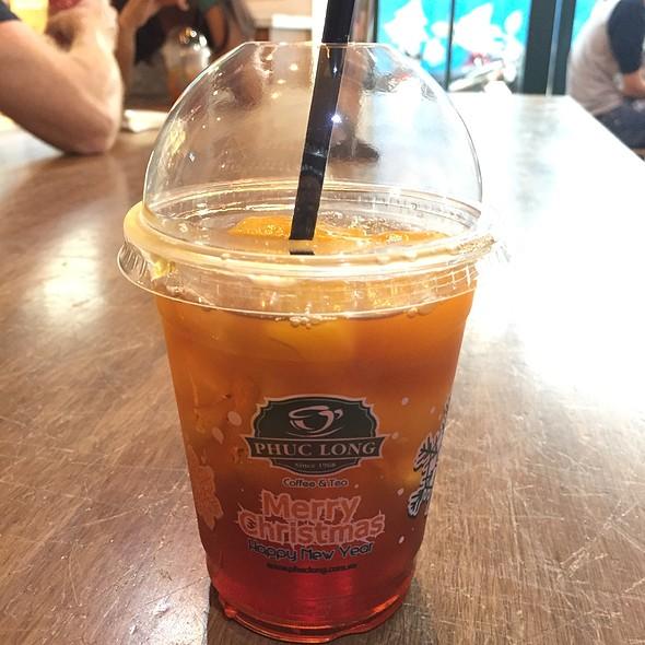 Iced Peach Black Tea @ Phuc Long Coffee & Tea Express