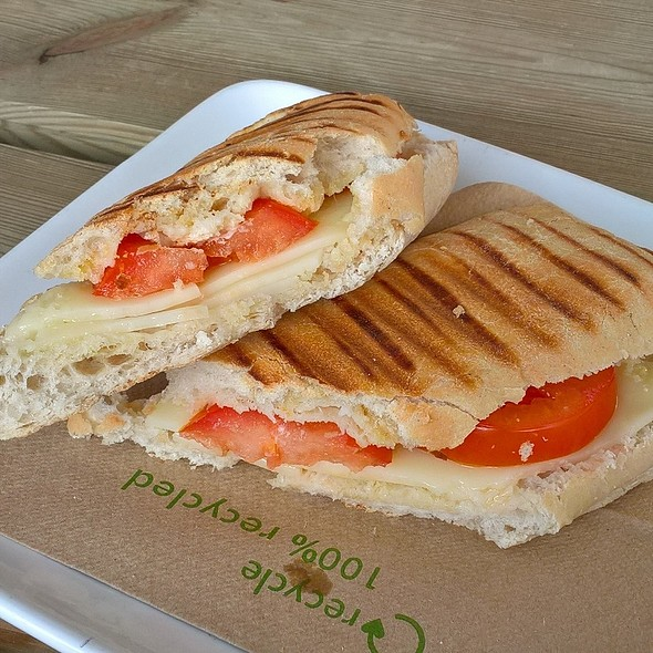 Vegan Cheese and Tomato Panini @ Café Dharma
