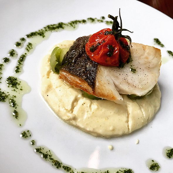 Roast Cod with Sweet Corn Polenta and Brussels Sprouts