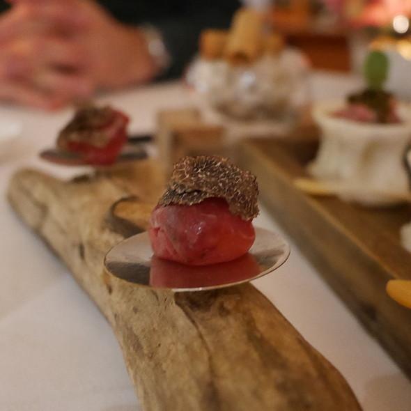 Wagyu Beef Wrapped Quail Egg & Truffle @ Nagaya