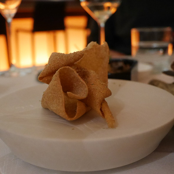Buckwheat Chips with Wasabi Sesame @ Nagaya