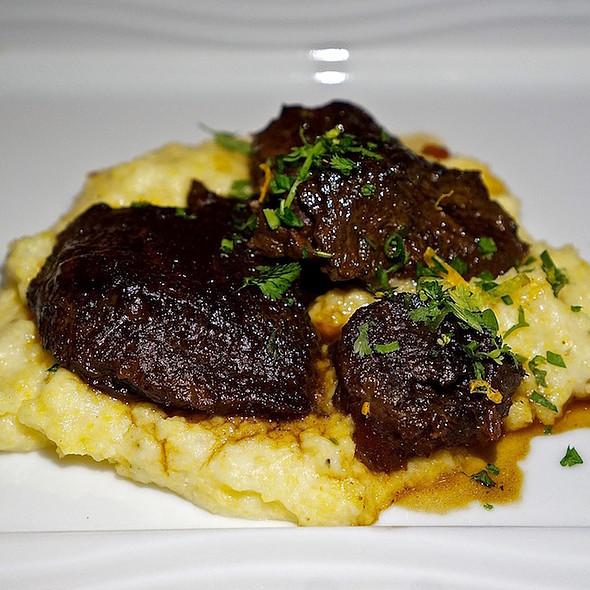 Beef cheeks, polenta, gremolata