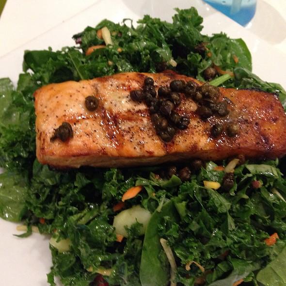 Kale Salad With Salmon @ Giggles N' Hugs