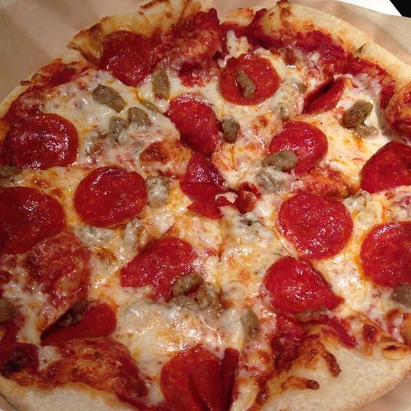 Sausage & Pepperoni Pizza @ Giggles N' Hugs
