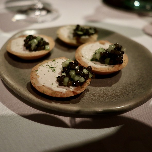 Eel Tart with Caviar