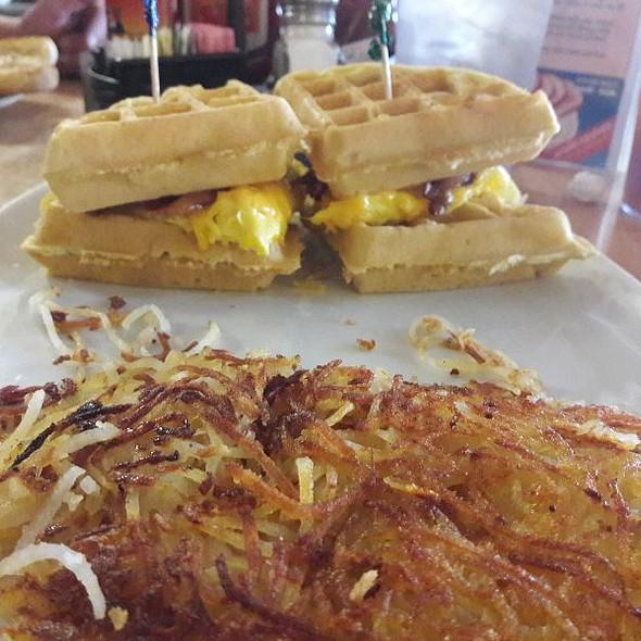 Waffle Sandwich @ Broken Yolk Cafe Palm Springs