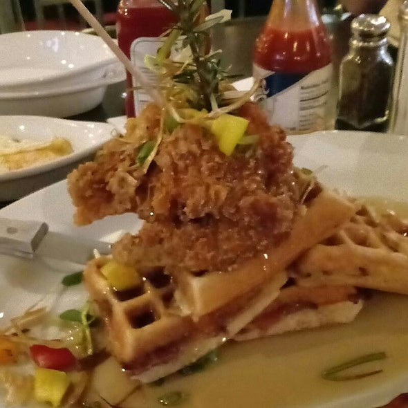 The Big O Sage Fried Chicken And Waffle Tower