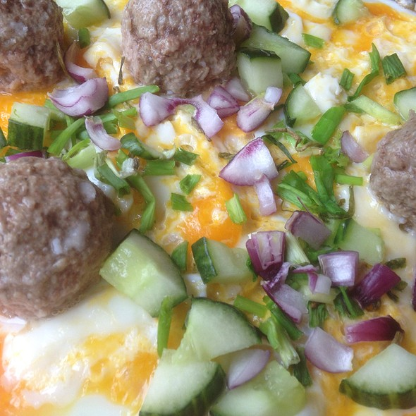 Omelette with Meatballs @ Apartment