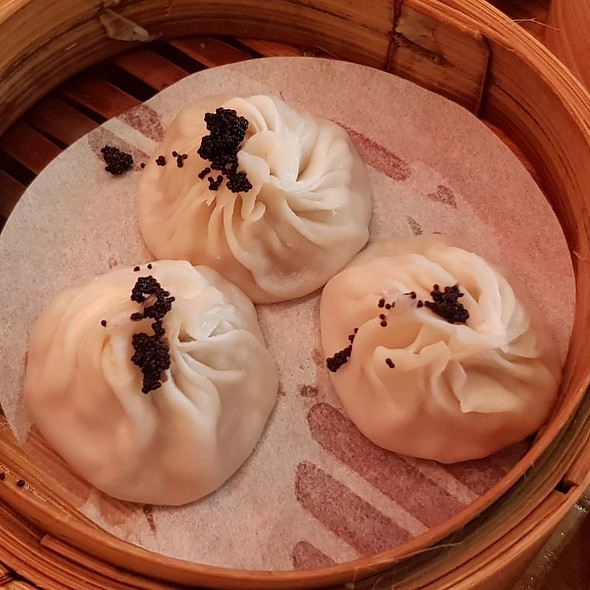 Steamed Xiao Long Bao With Black Crab Roe