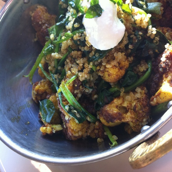 Curried Cauliflower - Mildred's Temple Kitchen, Toronto, ON