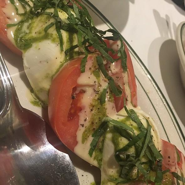 Beefsteak tomatoes and fresh mozzarella.