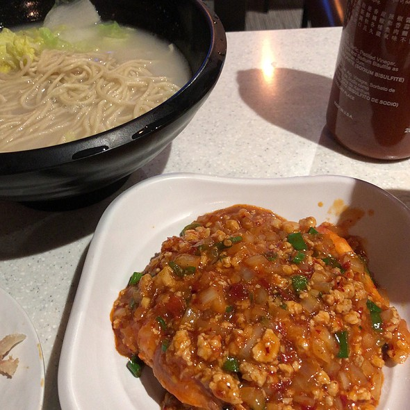 Prawns With Spicy Minced Pork Sauce Noodle Soup