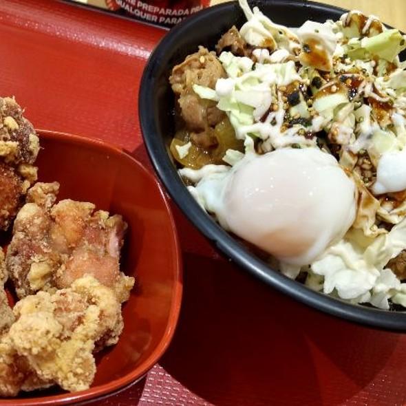Pork Gyudon With Okonomiyaki