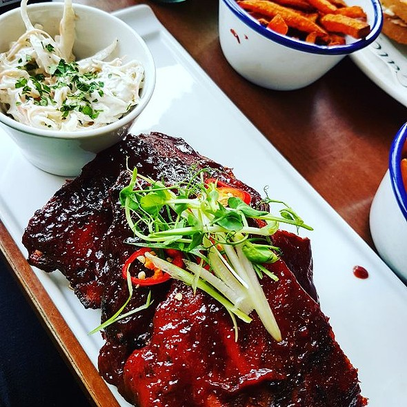House-smoked hickory ribs, coleslaw & fries