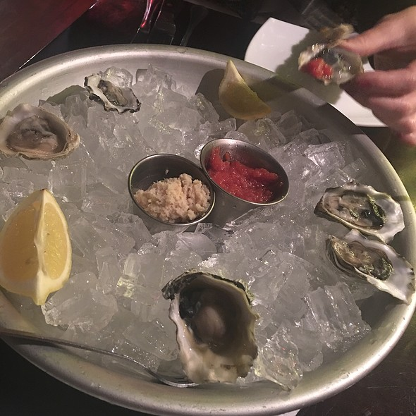 Oysters on the Half Shell @ Flame Steakhouse and Wine Bar