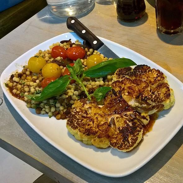 Oven Roasted Ginger and Sesame Cauliflower Steak