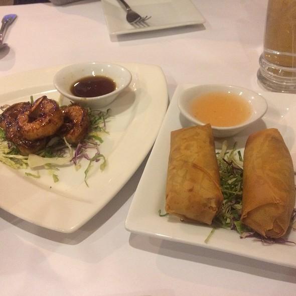 Garlic Shrimp & Duck Spring Rolls @ Esaan Thai Restaurant