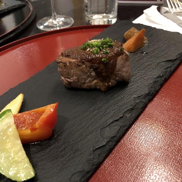 gyu hireniku no shariapin miso sauce @ Restaurant Sakai