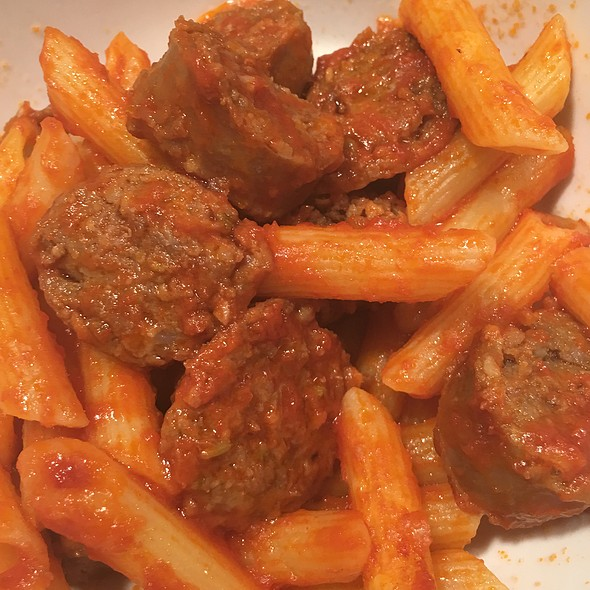 Penne With Spicy Italian Sausage And Chicken @ Home