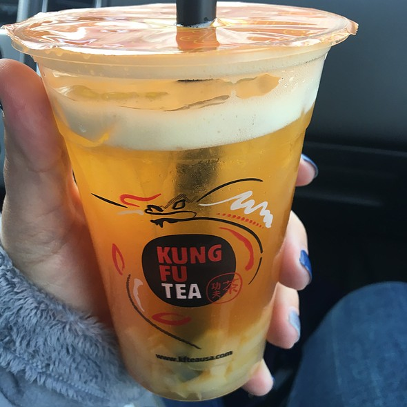 Passion Fruit Green Tea With Nata Jelly