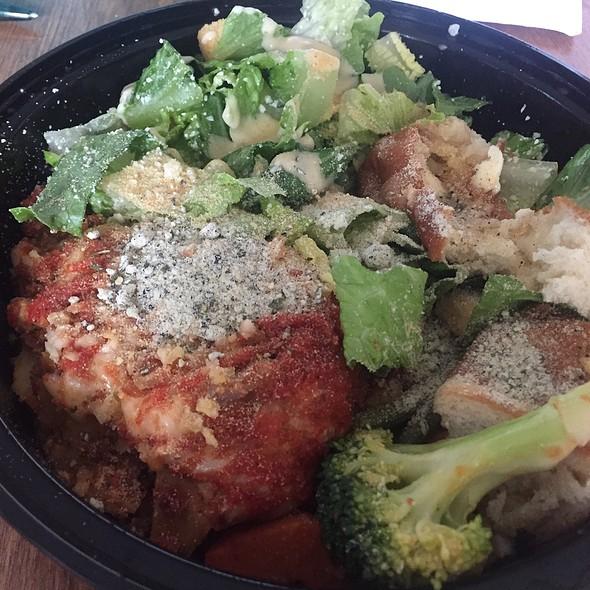 Lasagna with Caesar Salad