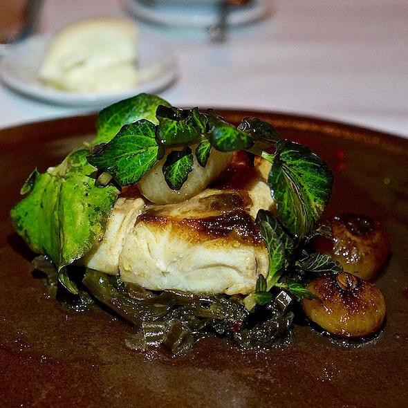 Sea bass, kale, cipollini onions @ Frasca Food & Wine