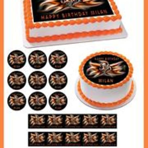 CINCINNATI BENGALS 2 Edible Birthday Cake Topper OR Cupcake Topper, Decor