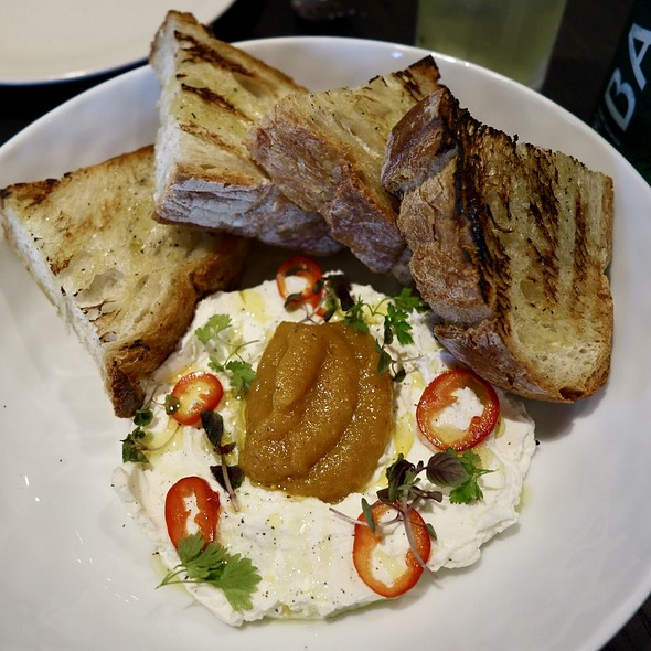 Grilled Sourdough Bread with Burrata and Chili Peppers