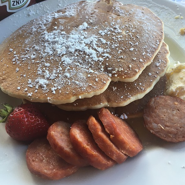 Pancakes And Portuguese Sausage