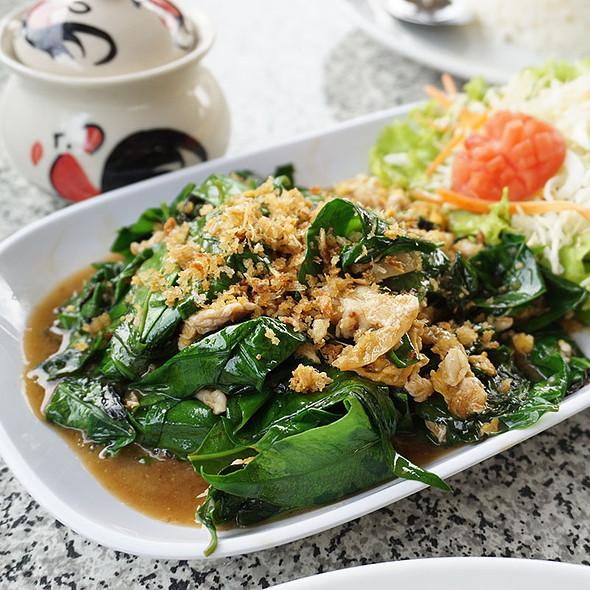 Bai Leang Phad Kai (Omelet with Local vegetable)