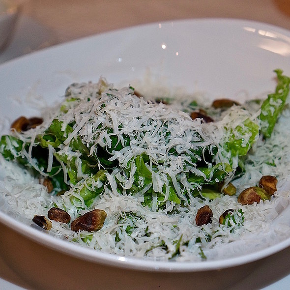 Butter lettuce salad, toasted pistachios, green herbs, hard sheep's milk cheese