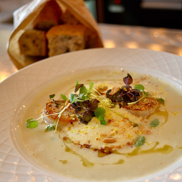 Fennel Soup With Scallops