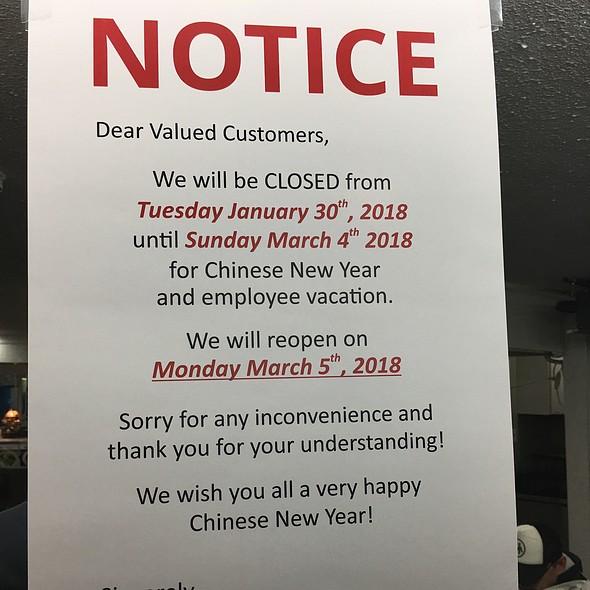 Vacation Notice