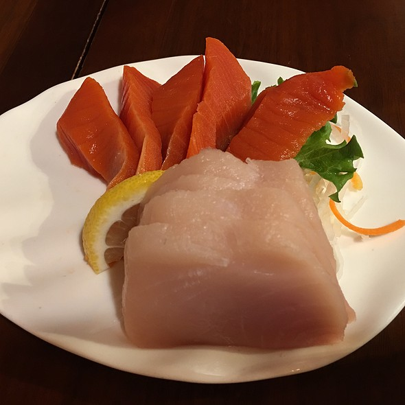 Wild Sockeye Salmon And Tuna Sashimi