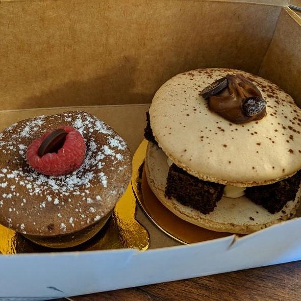 Chocolate Lava Cake & Tiramisu Macaron