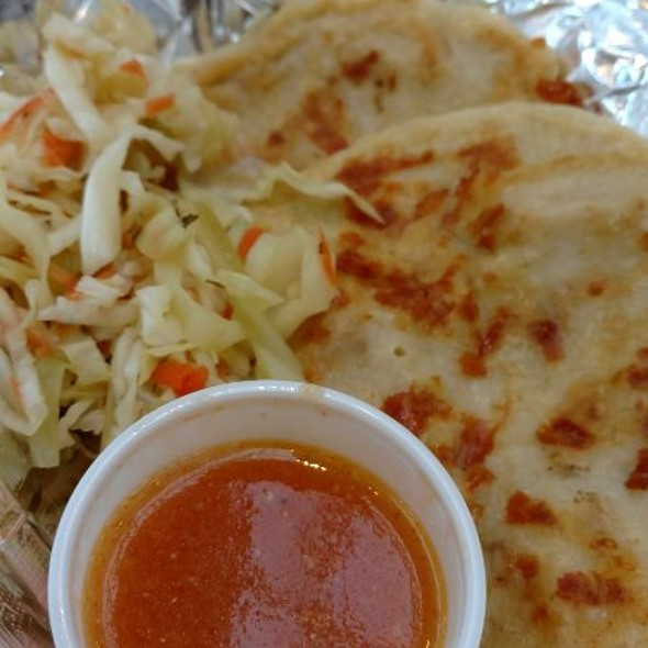 Puposas With Pickled Slaw