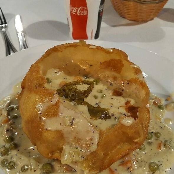 hatch chile chicken pot pie  @ Taqueria Del Sol