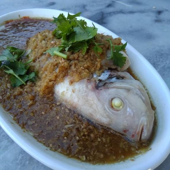 蒜姜清蒸非洲鱼
