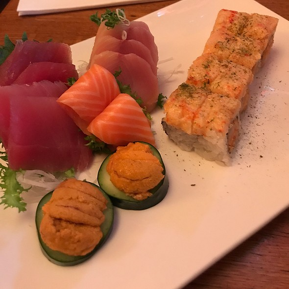Sashimi And Blossomed Dragon Roll