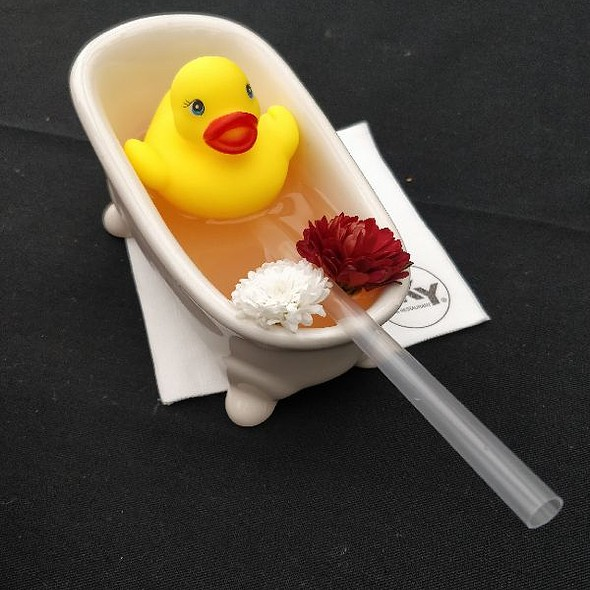 Gin Cocktail with Duck