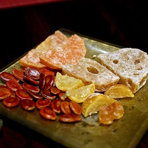 Candied fruit, lotus root, watermelon seeds