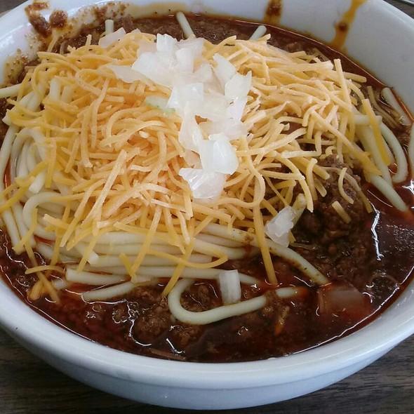 Beef Chili With Spaghetti @ Chili John's
