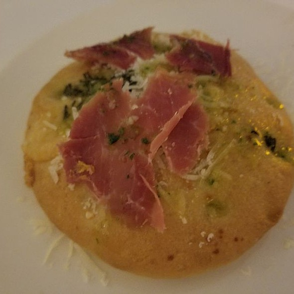 Pancetta And Parmesan Crusted Bread
