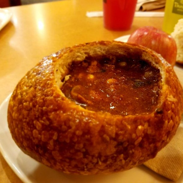 Turkey Chili In Bread Bowl