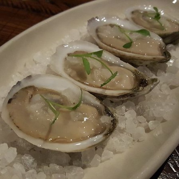 Gulf Oysters With Coconut Lime Granita @ Riel