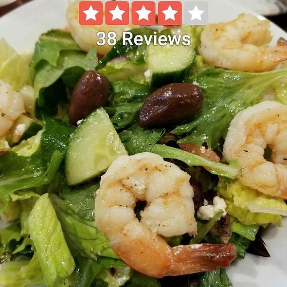 Greek salad with Tiger Shrimp